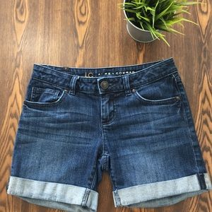 Lauren Conrad Dark Wash Jean Shorts